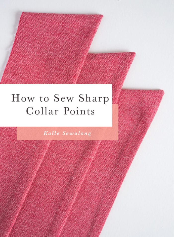 How to Sew Sharp Collar Points // Closet Case Patterns