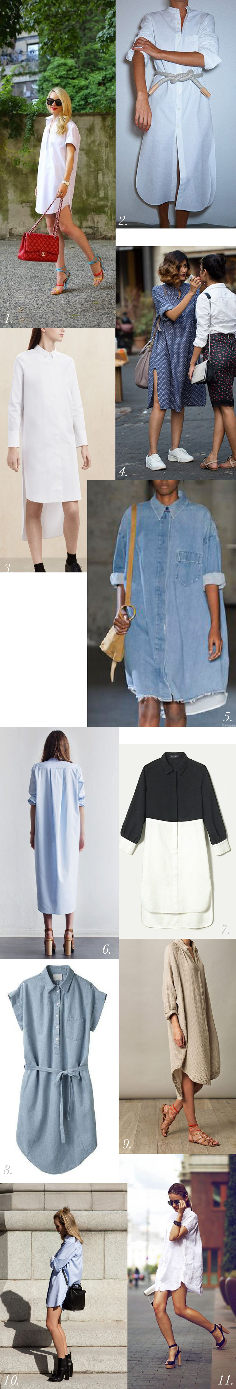 Shirtdress & Oversized Button Down Shirt // Inspiration & styling // Kalle Shirtdress pattern Sewalong // Closet Case Patterns