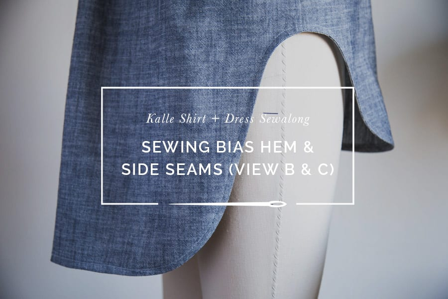 Finishing a curved hem with bias tape // Kalle Shirtdress pattern Sewalong