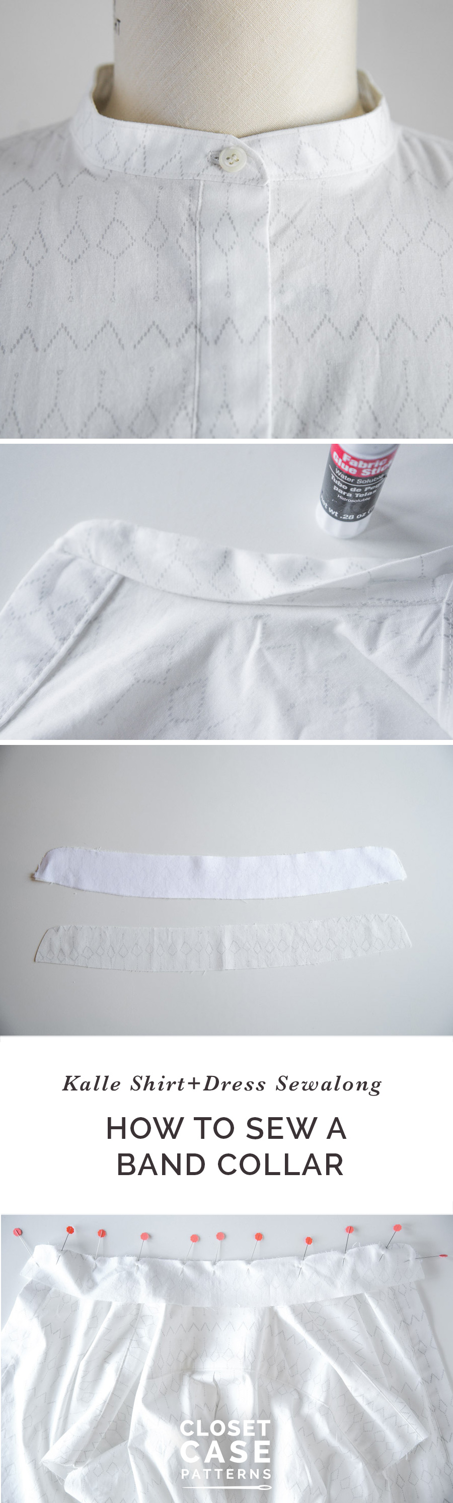 Easy tutorial to sew a  band collar or stand collar // Closet Case Patterns {permalink}