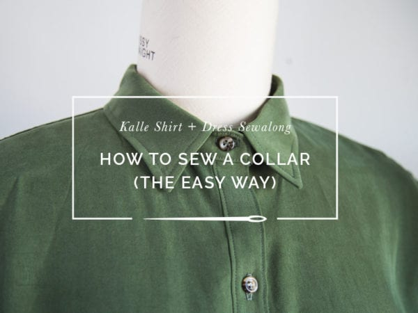 How to sew a shirt collar // Kalle Shirtdress Sewalong // Closet Case Patterns