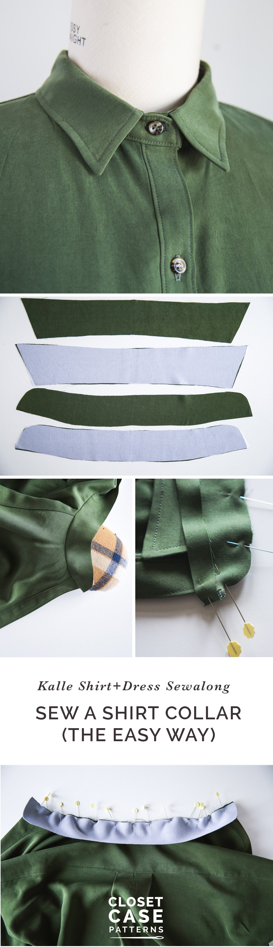 The easy way to sew a shirt collar!! // by Closet Case Patterns