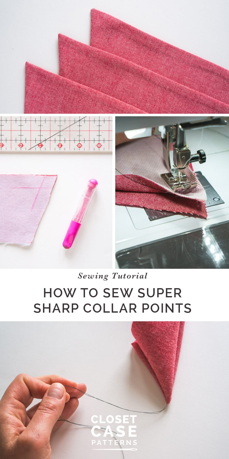 Sewing Sharp Shirt Collar Points Closet Case Patterns Machine Threading Diagram Pinterest How To Sew Super