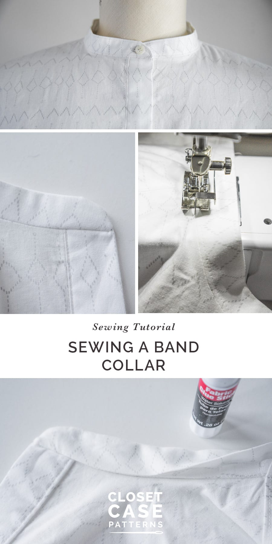 An easy tutorial for how to sew a stand collar // Closet Case Patterns