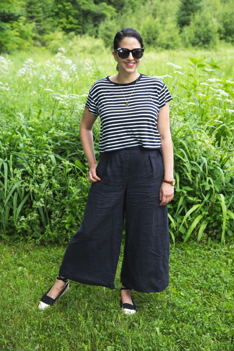 Flint Pants by Megan Nielsen in linen // Closet Case Patterns