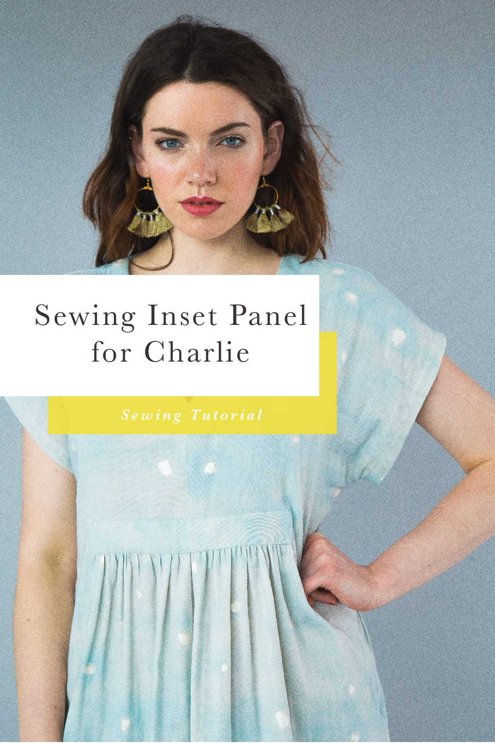 Sewing Center Panel on Charlie Caftan // Closet Case Patterns
