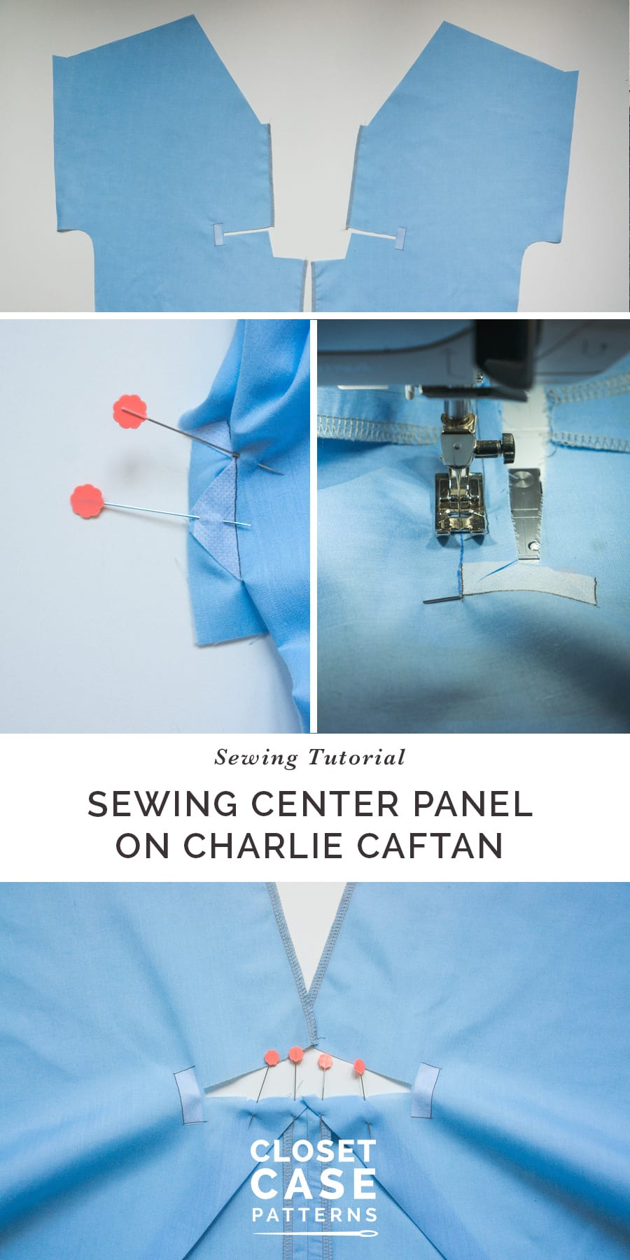 Sewing the Inset Center Panel // Charlie Caftan