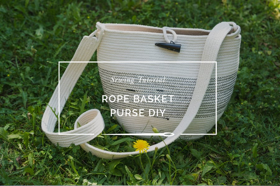 Rope bowl purse tutorial // Sewing purse DIY // Closet Case Patterns