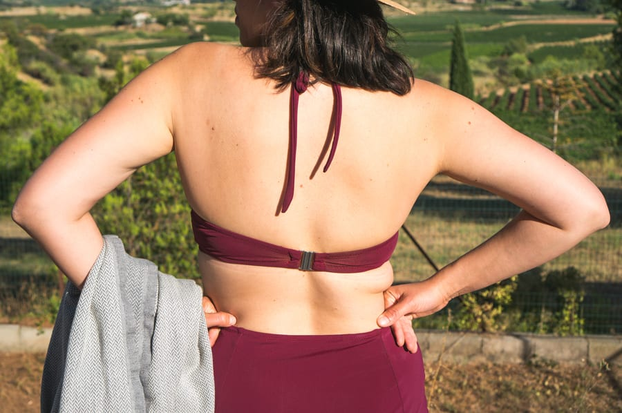 Sophie Swimsuit Pattern in merlot lycra // Closet Case patterns