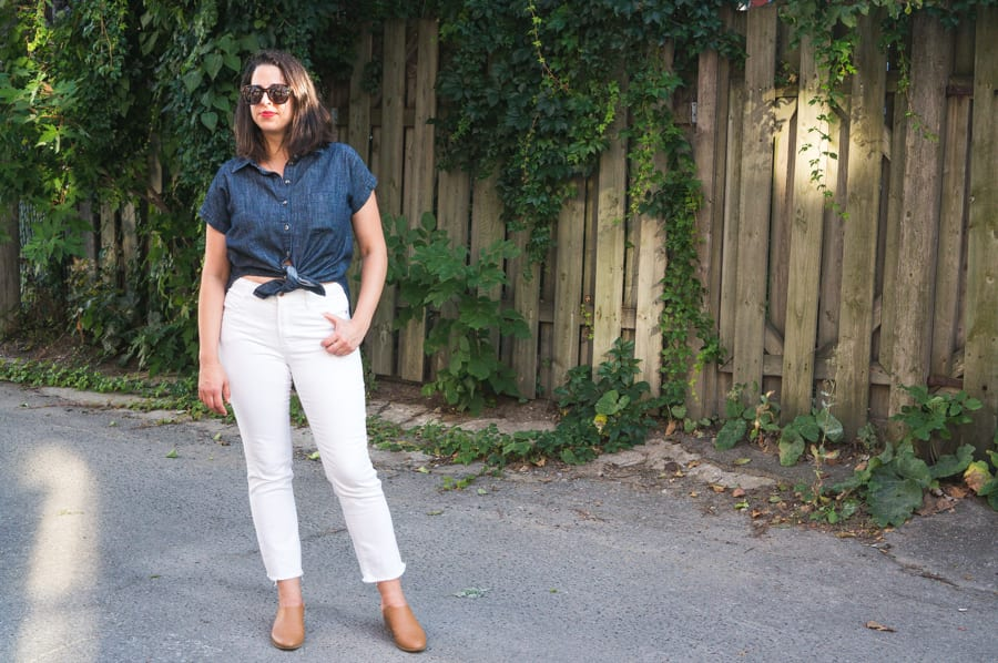The Perfect Outfit: White Ginger Jeans + Denim Kalle Tunic ...