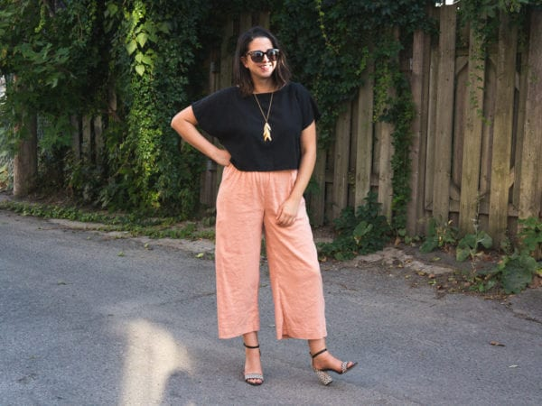 Self drafted pink linen pants! // Handmade by Closet Case Pattens
