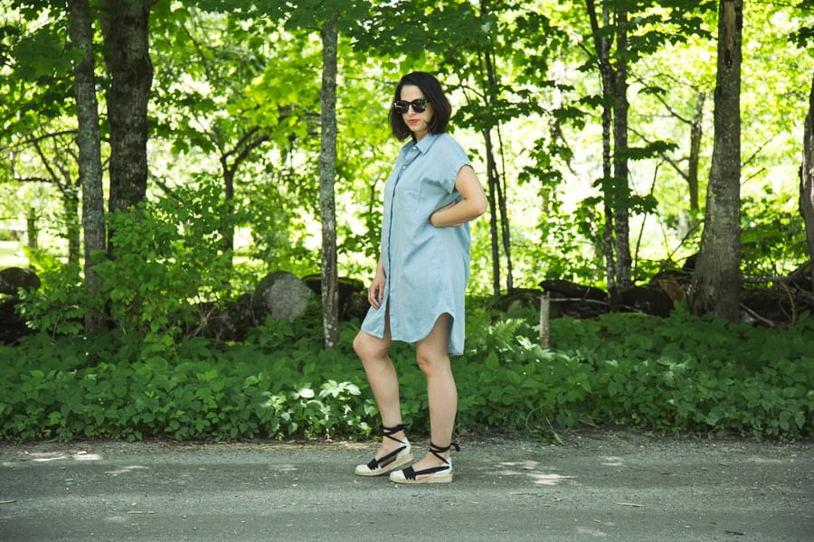 Kalle Shirtdress in blue tencel // sewing pattern by Closet Case Patterns