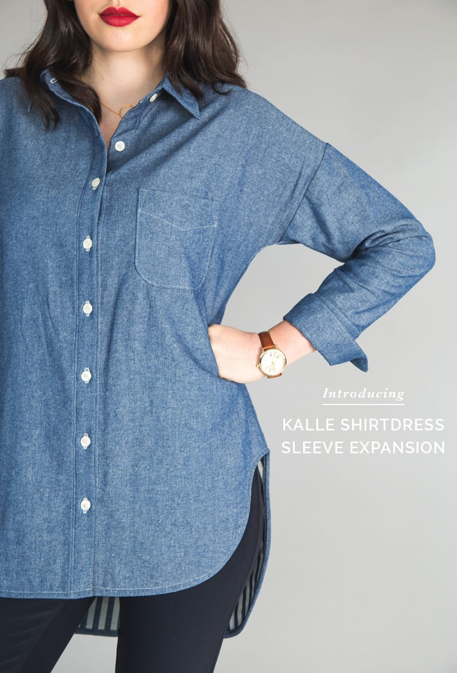 Sleeve Pattern Expansion for Kalle Shirtdress Pattern // Closet Case Patterns