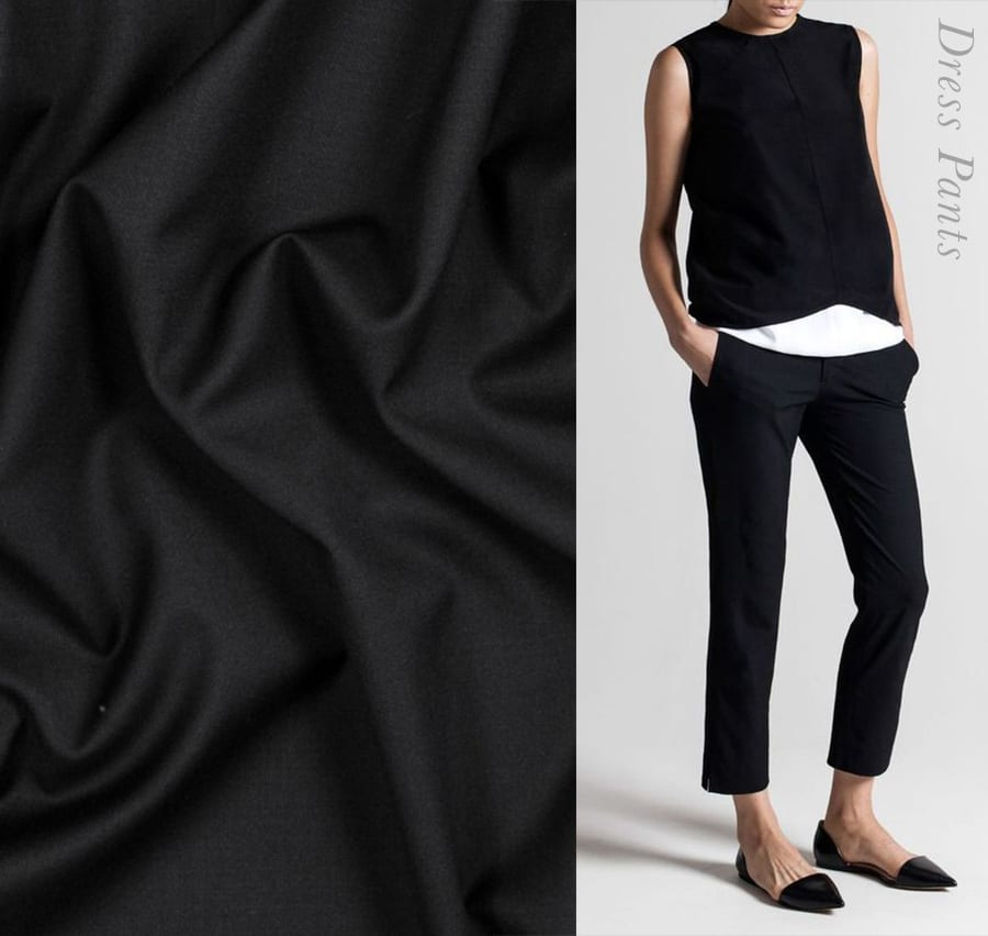 Black Stretch Trousers // Closet Case Patterns