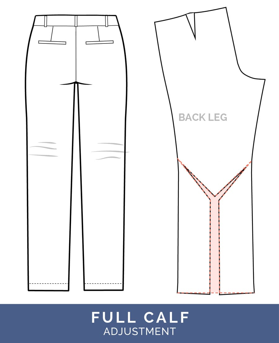 Full Calf Adjustment // Pants Fitting Adjustments // Closet Case Patterns