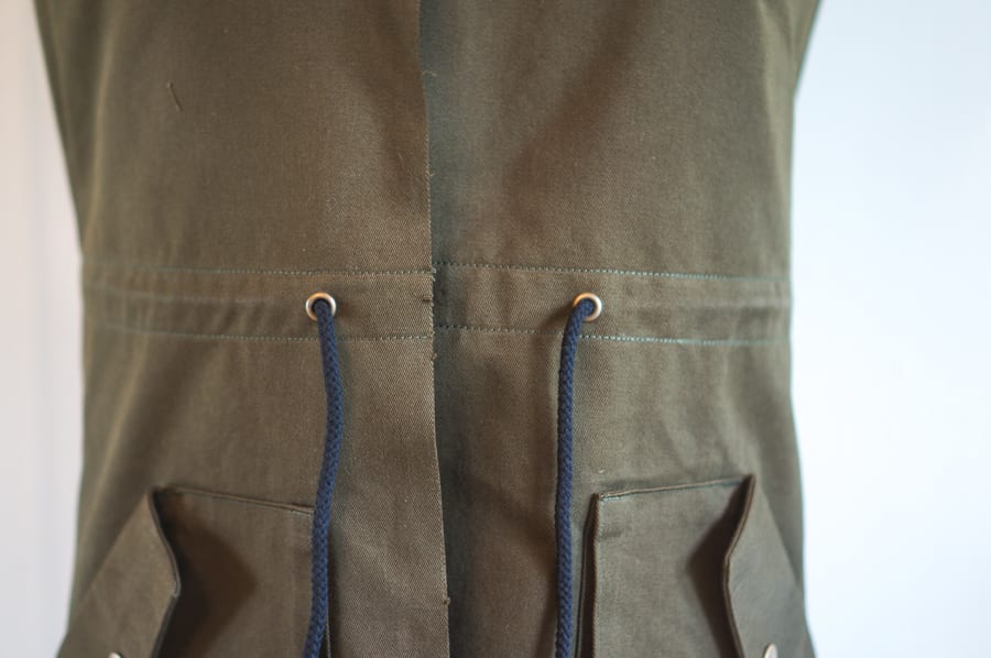 Sewing a drawstring // Kelly Anorak Sewalong