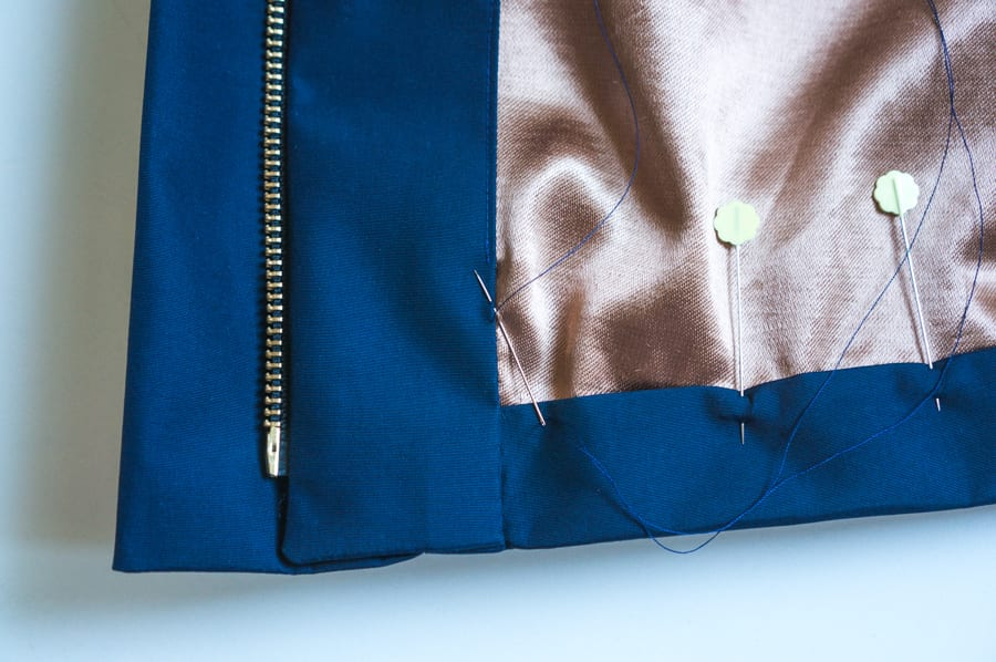 Kelly Anorak Sewalong // Hemming a lined jacket // Closet Case Patterns