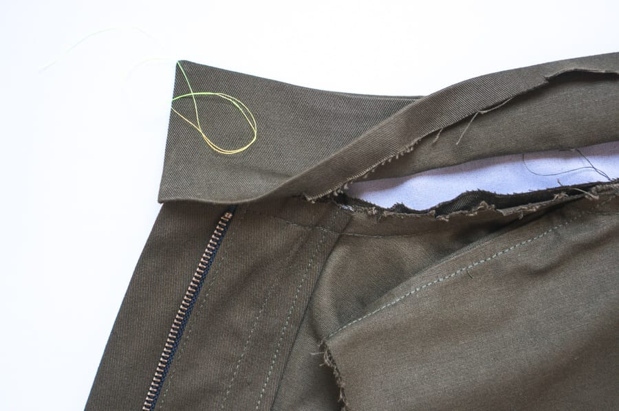 Kelly Anorak Sewalong // Sewing the collar // Closet Case Patterns