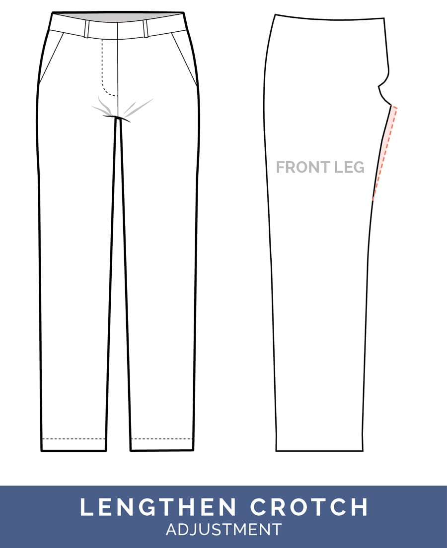 Lengthen Crotch Adjustment - Crotch too short // Pants Fitting Adjustments // Closet Case Patterns