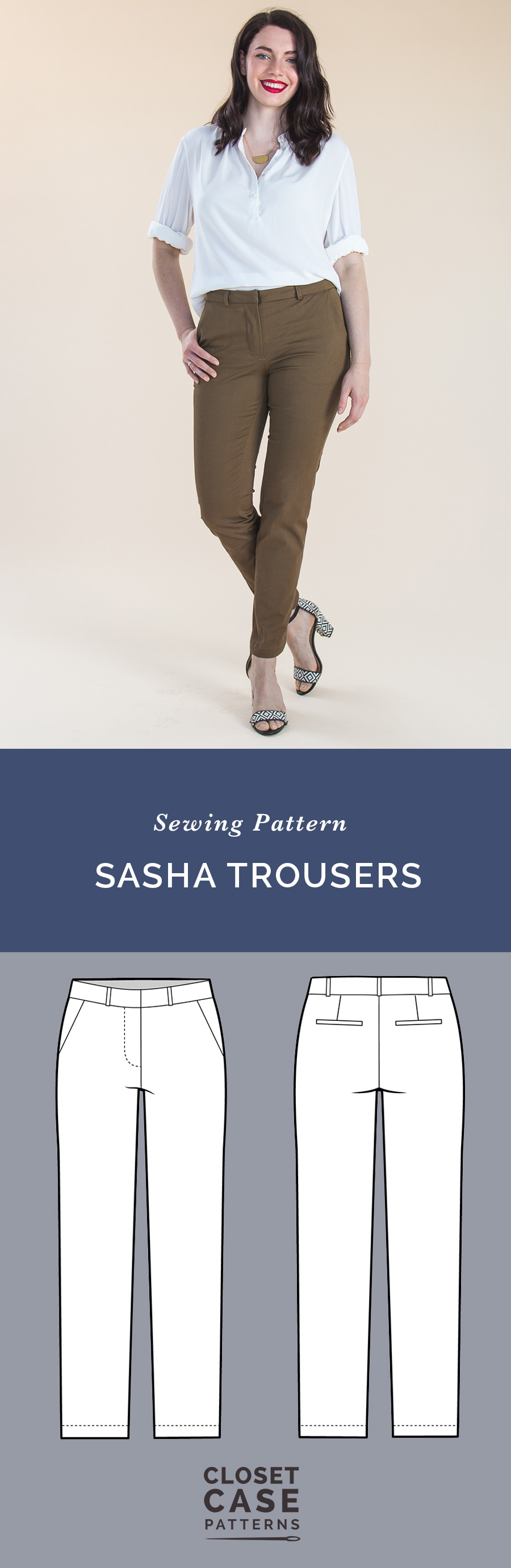 Sasha Trousers Pattern // Our ultimate pants pattern! // Closet Case Patterns
