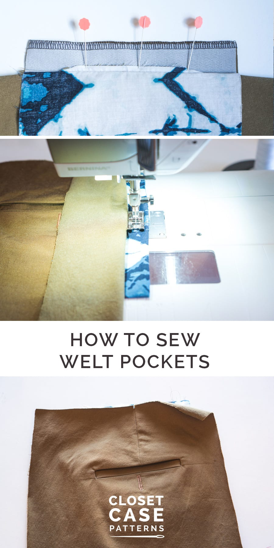 How to Sew Welt Pockets for the Sasha Trousers Pattern