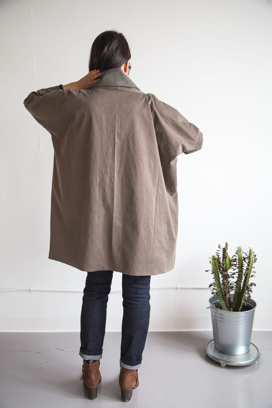 Oversized Kimono Jacket from Making Zine // Handmade by Closet Case Patterns