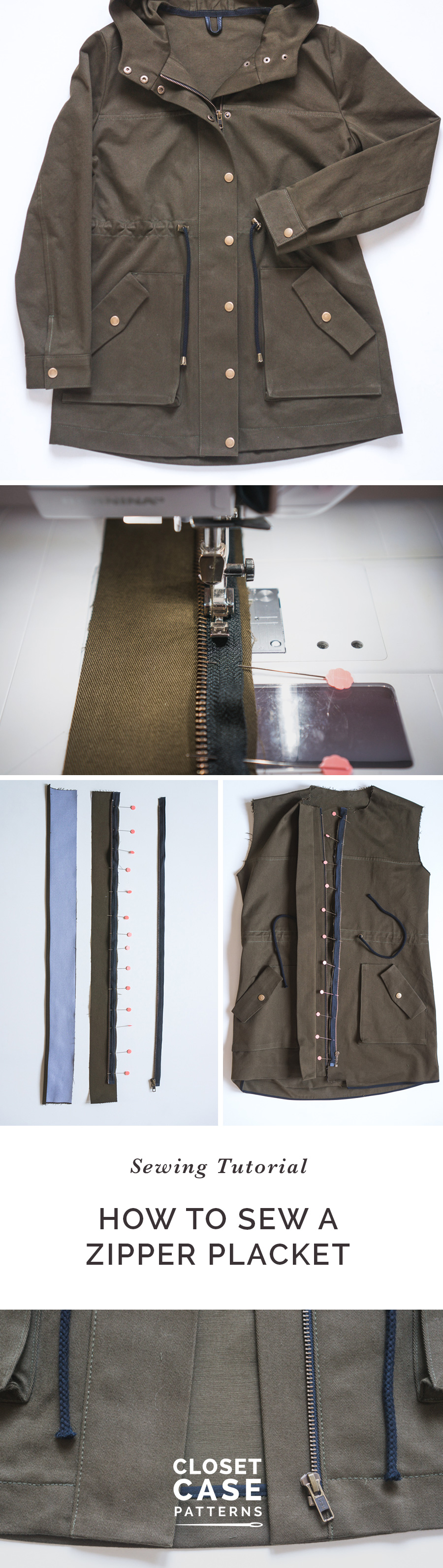 Learn how to sew a zipper placket with our in-depth step by step sewing tutorial!