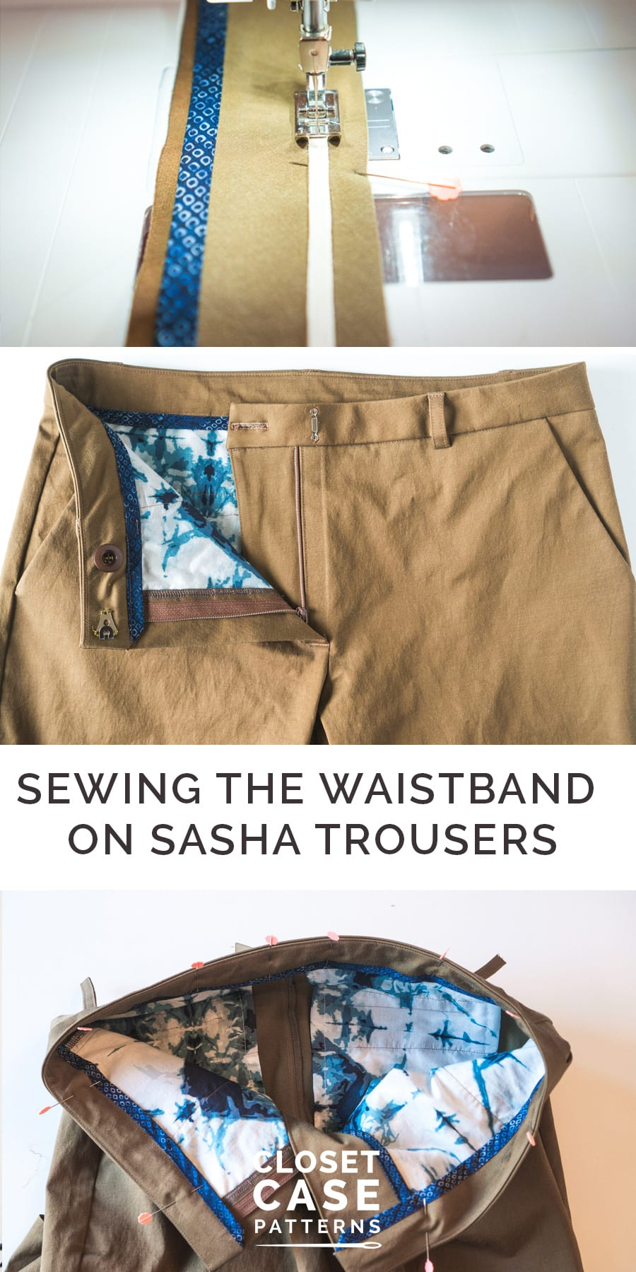 How to sew a pants waistband // Sewing tutorial // Closet Case Patterns