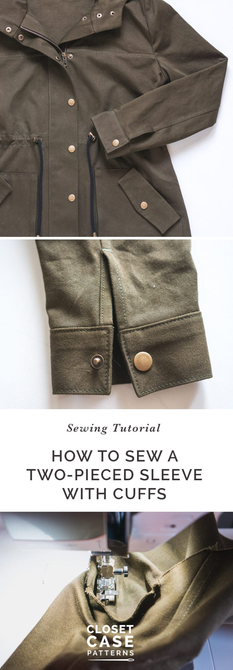 Setting in Sleeves & Cuffs (Unlined Version) // Kelly Anorak Sewalong