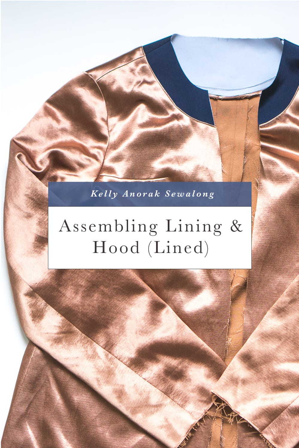 How to sew a jacket lining // Kelly Anorak Sewalong // Closet Case Patterns