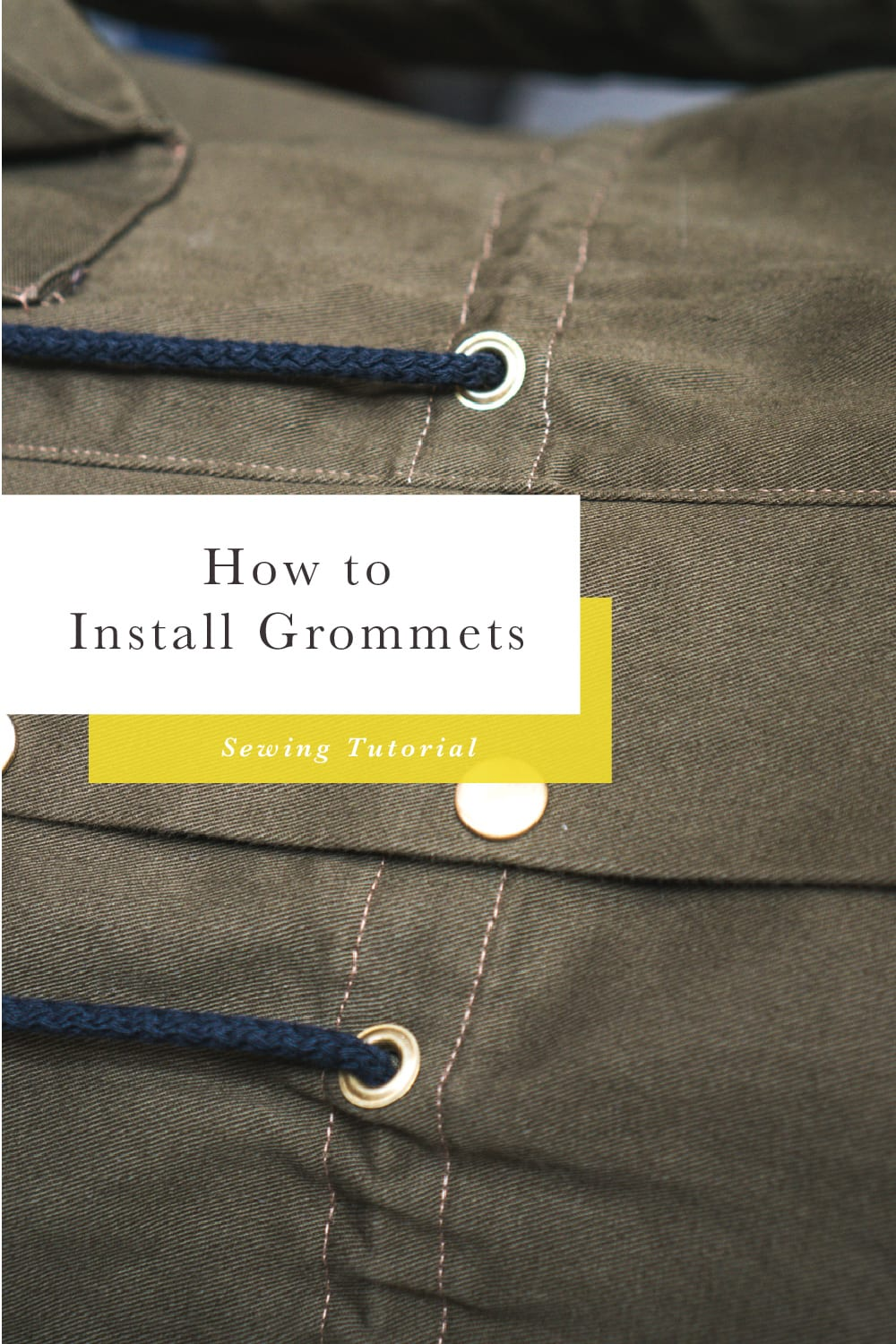 How to install grommets // Closet Case Patterns