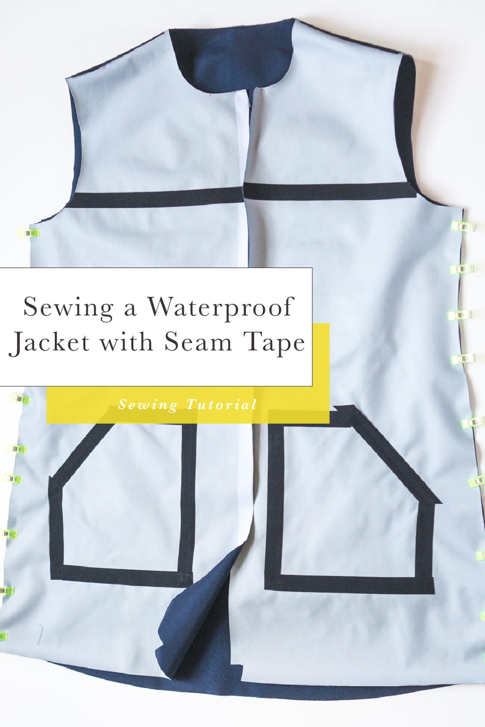 Sewing a waterproof jacket with waterproof fabric and seam sealing tape // Closet Case Patterns
