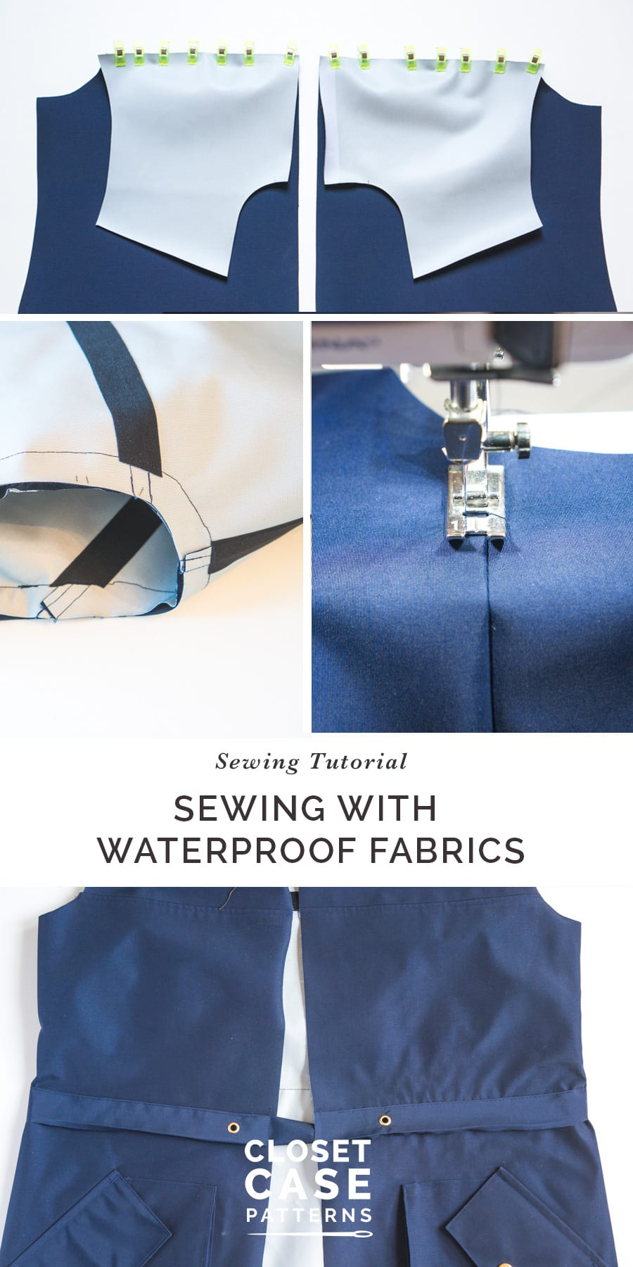 How to sew a waterproof jacket using waterproof fabric and seam sealing tape!