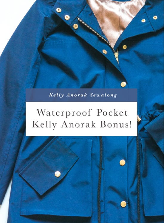 Free pattern bonus! Add a waterproof pocket to the Kelly Anorak // Closet Case Patterns