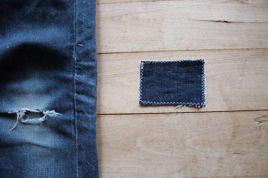 How to mend jeans // Sewing tutorial // sashiko // knee patches // Closet Case Patterns
