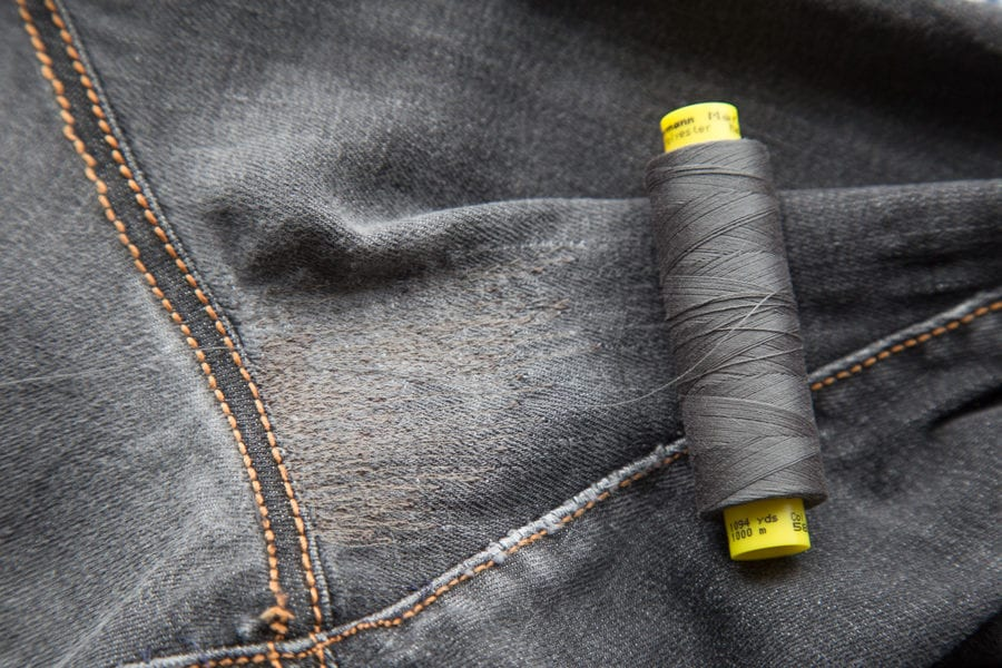 how to fix a hole in jeans without sewing