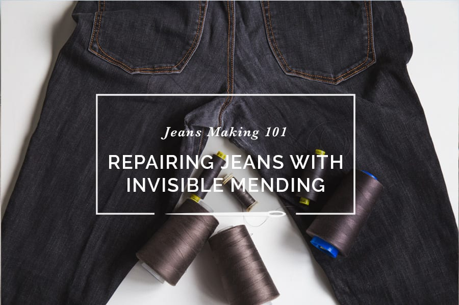 Repairing Jeans With Invisible Mending
