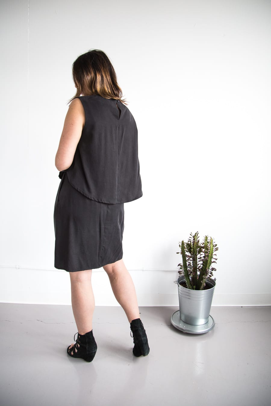 Rachel Comey dress in black tencel twill // Vogue 1501 sewing pattern // Handmade by Closet Case Patterns