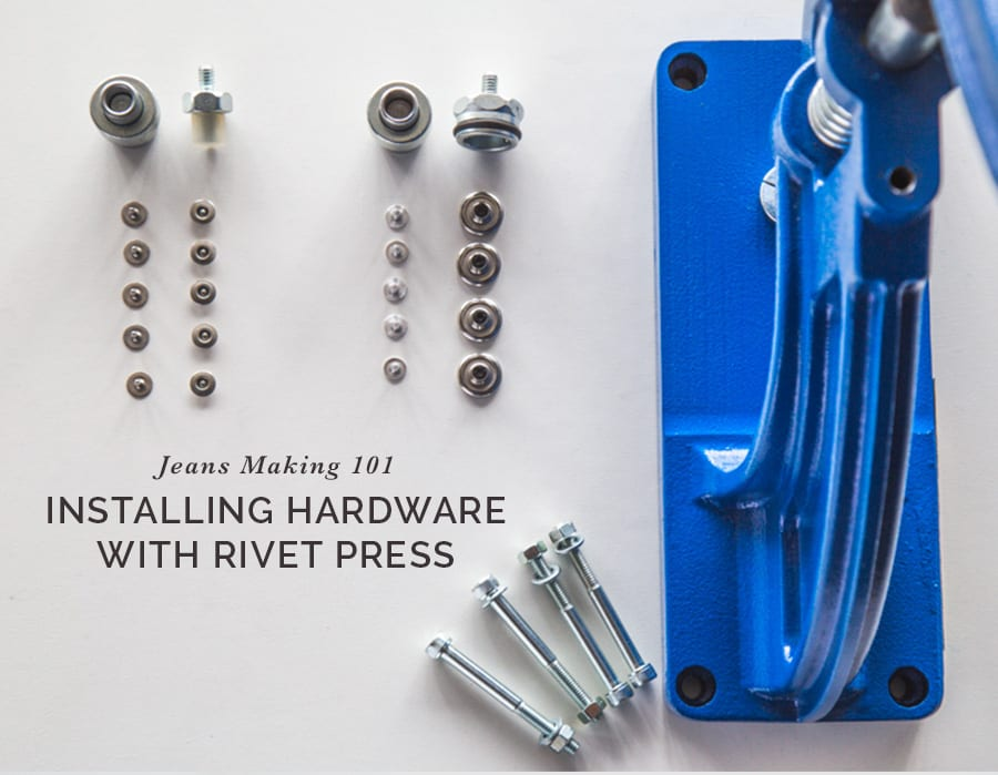 Installing Jeans Hardware with an Industrial Hand Press