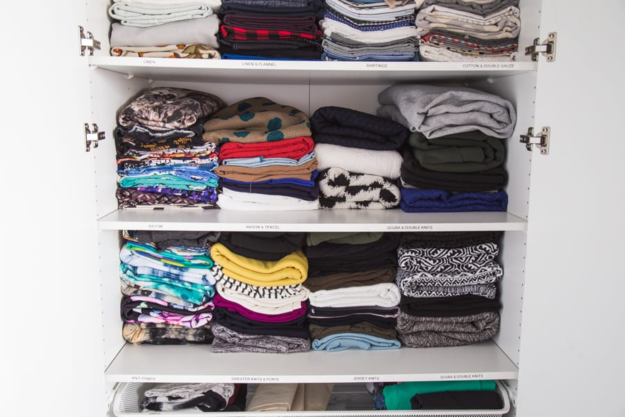 Fabric stash organization // Closet Case Patterns