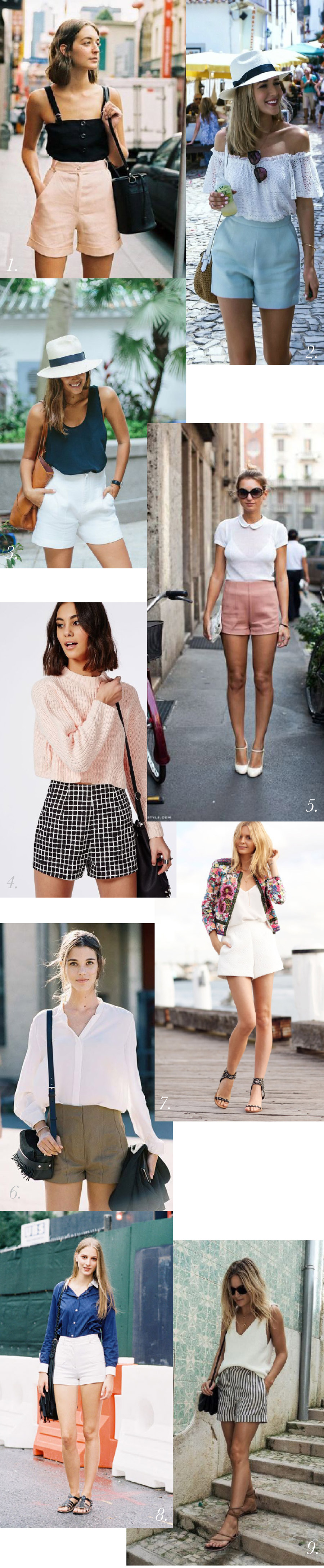Tailored high waisted shorts outfit & styling inspiration // Jenny Overalls & Trouser Pattern // Closet Case Patterns