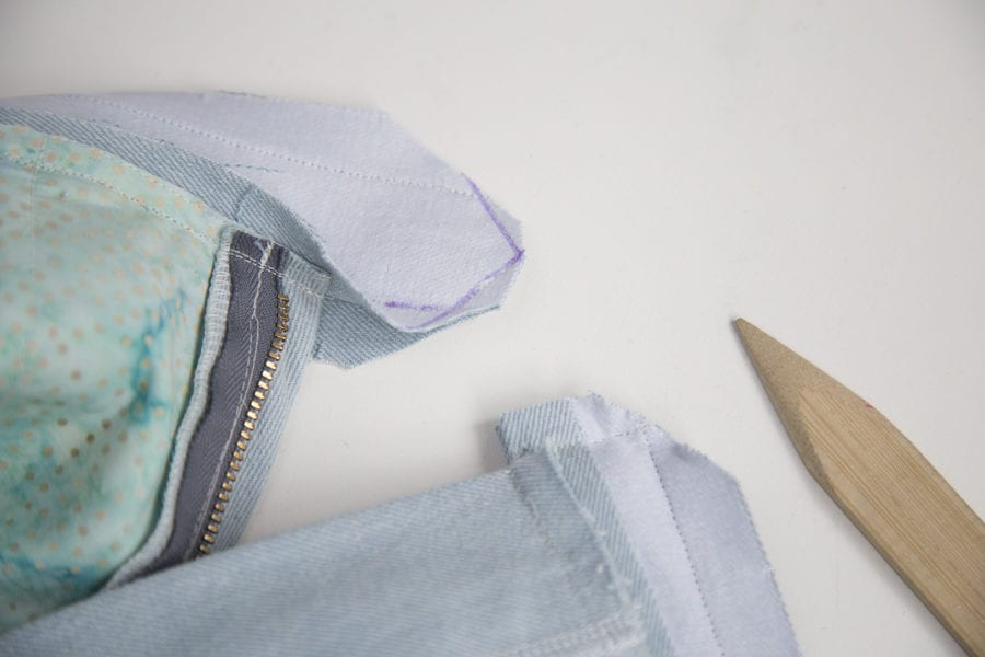 Waistband sewing tutorial // Jenny Overalls sewing pattern // Closet Case Patterns