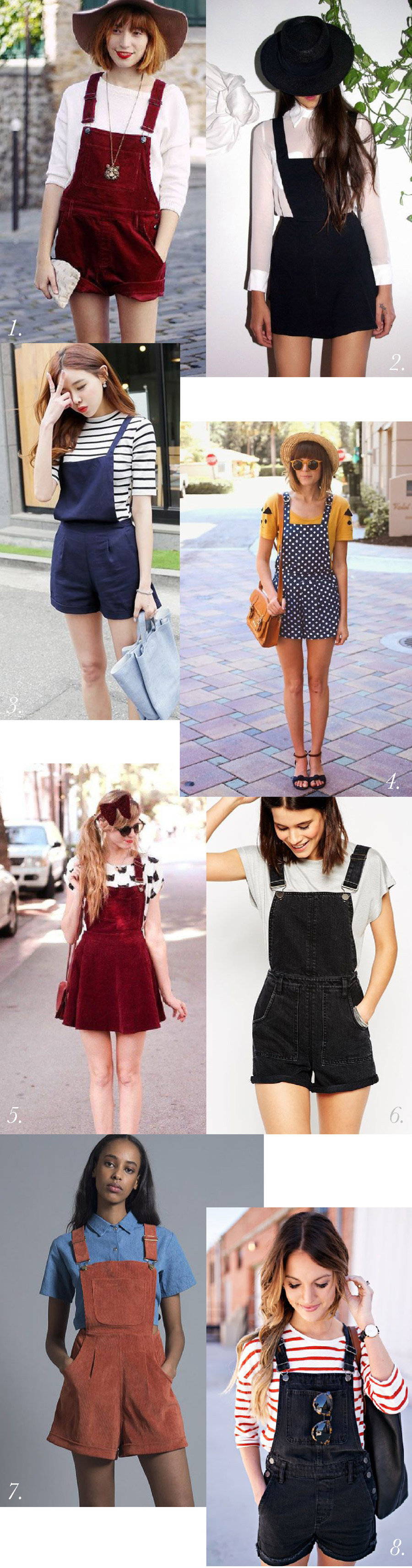 Shorts overalls // Overalls outfit & styling inspiration // Jenny Overalls & Trouser Pattern // Closet Case Patterns