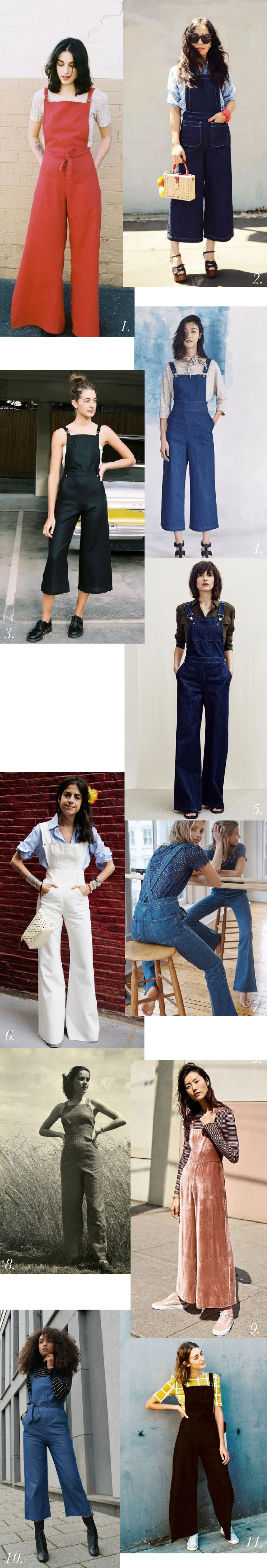 Overalls outfit & styling inspiration // Jenny Overalls & Trouser Pattern // Closet Case Patterns