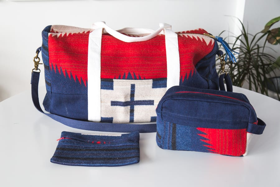 Portside Travel set // Portside Duffle Bag // handmade by Closet Case Patterns