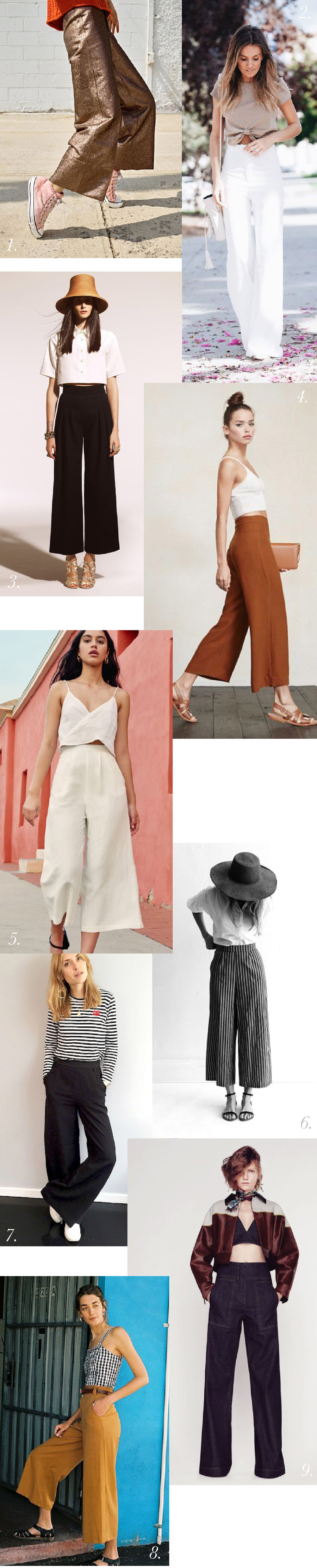 Cropped wide leg trousers // Jenny Overalls & Trouser Pattern // Closet Case Patterns
