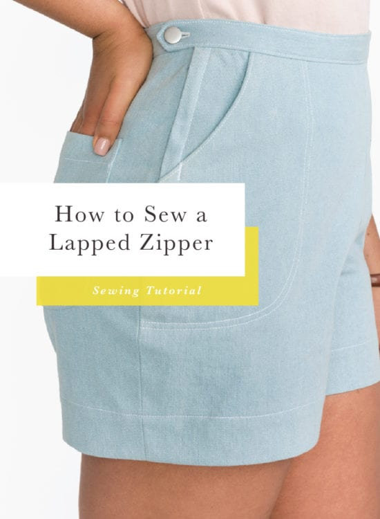 How to sew a lapped zipper // Jenny Overalls // Closet Case Patterns