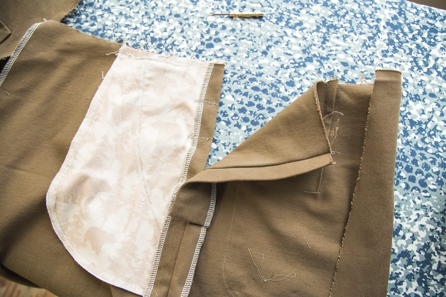 Adding hip buttons to Jenn Overalls // Sewing tutorial by Closet Case Patterns