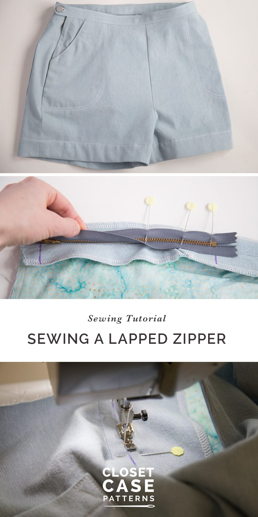 How to Sew a Lapped Zipper for the Jenny Overalls