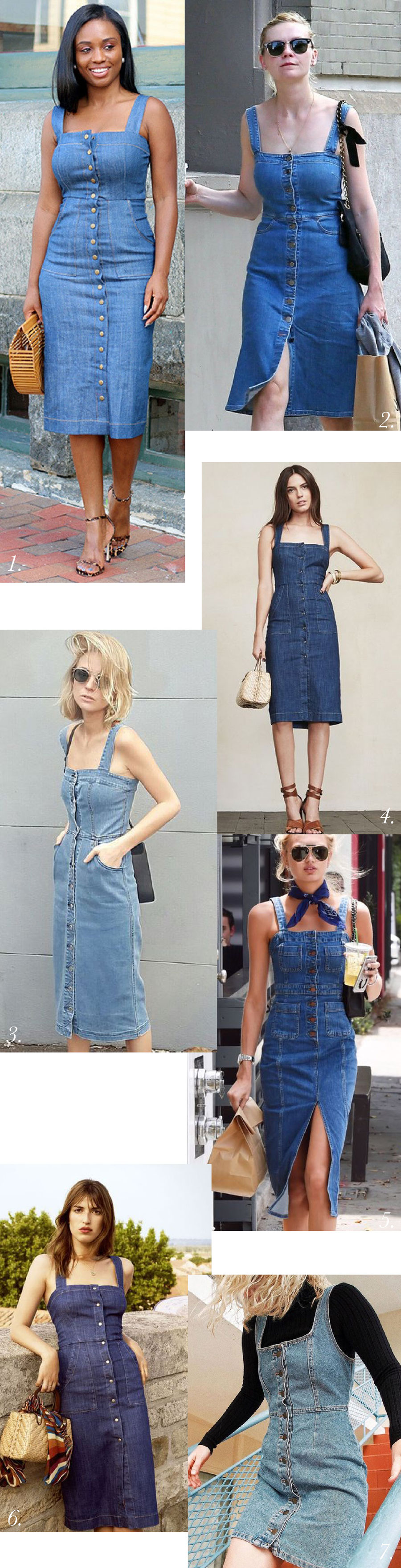 Denim dress outfit inspiration // Fiona Sundress pattern by Closet Case Patterns